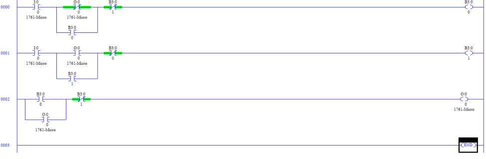 Ladder Logic of single push button ON/OFF